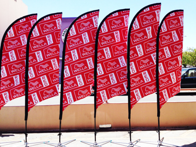 UV sublimated banner flags
